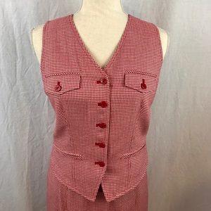 EUC (NWOT?)Vintage Ann Taylor Skirt/Vest/Belt Suit